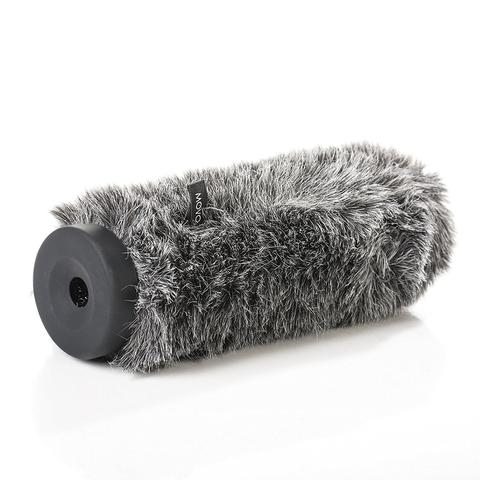 Movo WS-G300 Furry Rigid Windscreen for Microphones 18-23mm in Diameter and up to 11.8″ (30cm) Long – Dark Gray